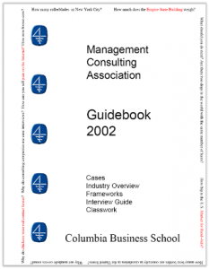 Case Interview Casebook Columbia 2002