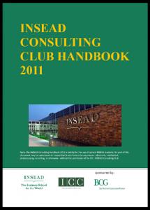 Case Interview Casebook INSEAD 2011