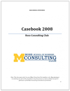 Case Interview Casebook Ross 2008