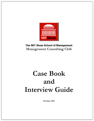 Case Interview Casebook Sloan 2001