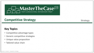 Case Interview Competitive Strategy Tutorial
