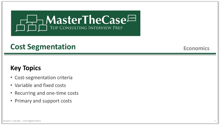 Case Interview Cost Segmentation Tutorial