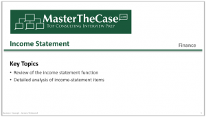 Case Interview Income Statement Tutorial