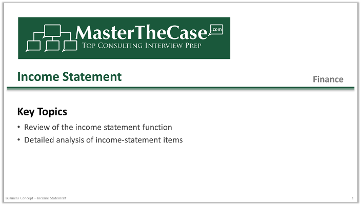 income statement by function
