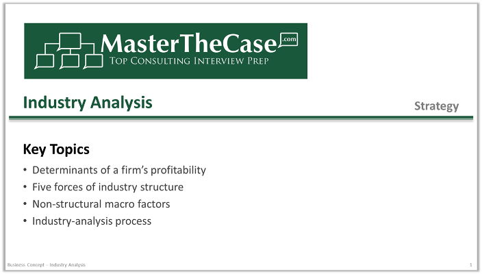 Case Interview Industry Analysis | MasterTheCase