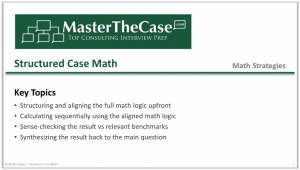 Case Interview Structured Case Math Tutorial