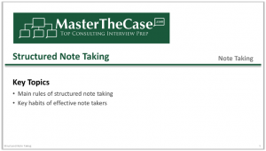 Case Interview Structured Note Taking Tutorial