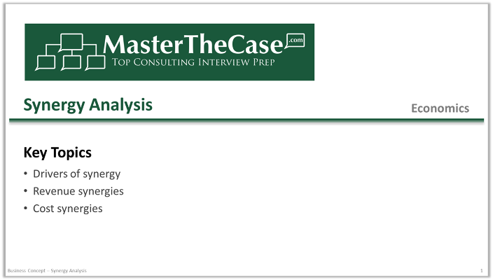 Case Interview Synergy Analysis Tutorial