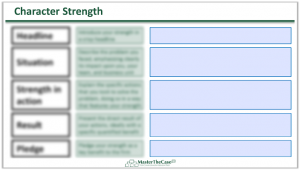 Consulting Fit Interview Character Strength Template