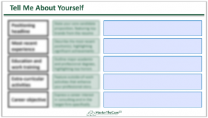 Consulting Fit Interview Tell Me About Yourself Template
