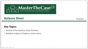 Case Interview Balance Sheet Tutorial
