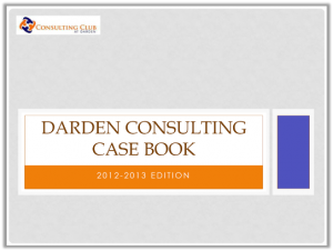 Case Interview Casebook Darden 2013