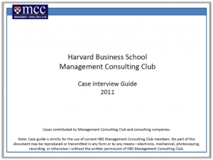 Case Interview Casebook Harvard 2011