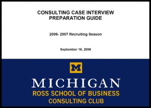 Case Interview Casebook Ross 2007