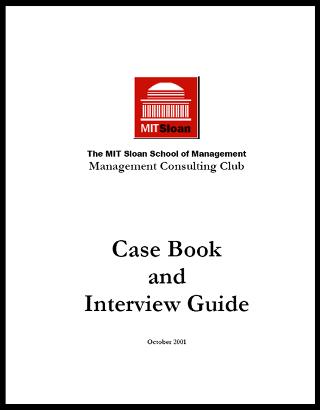 Case Interview Casebook Sloan 2001