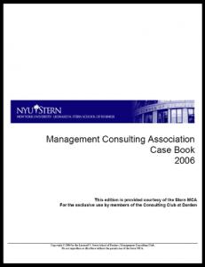 Case Interview Casebook Stern 2006