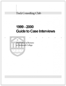 Case Interview Casebook Tuck 2000