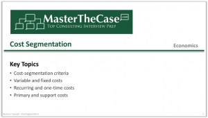 Case Interview Cost Segmentation Tutorial