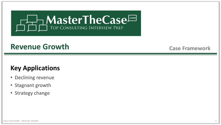 Case Interview Revenue Growth Case Framework Tutorial