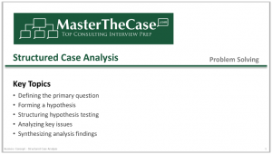 Case Interview Structured Case Analysis Tutorial