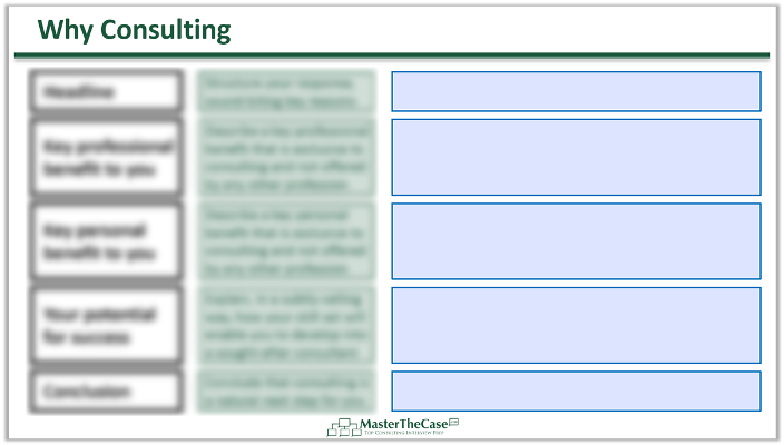 Consulting Fit Interview Why Consulting Template